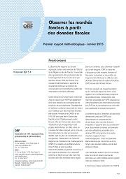 Observer les marchés fonciers à partir des données fiscales