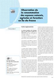Observation de la consommation des espaces naturels, agricoles et forestiers en Île-de-France